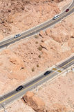 A curvy mountain road to Hoover Dam. A curvy mountain road to Hoover Dam, USA Stock Photography