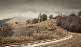 Curvy moutnain road. In Stara Planina, Serbia Stock Images