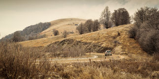 Curvy moutnain road. In Stara Planina, Serbia Royalty Free Stock Photography
