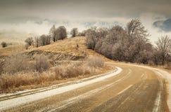 Curvy moutnain road. In Stara Planina, Serbia Stock Image