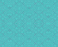 Curvy pattern. Japanese inspired seamless pattern in teal and blue Royalty Free Stock Photography