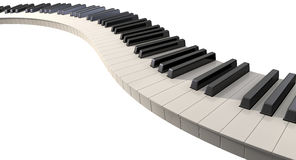 Curvy Piano Keys Stock Photo