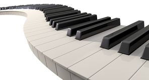 Curvy Piano Keys Stock Images