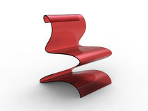 Plastic Curvy Chair Royalty Free Stock Photography