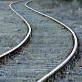 Curvy railroad track Stock Images