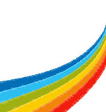 Curvy rainbow scribbles flow Stock Images