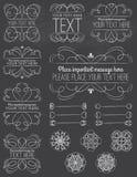 Curvy ramar för svart tavla & designbeståndsdelar Royaltyfri Bild