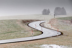 Curvy road Stock Images