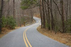 Curvy road. Found in a North Carolina state park royalty free stock photography