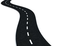 Curvy road royalty free illustration