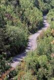 Curvy Road Rural. Aerial Shot of Curvy Rural Road in Montenegro stock photo