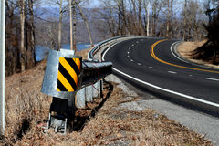 Curvy Road Alabama Mountain Stock Photos