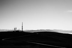 Curvy road and antennas Stock Image