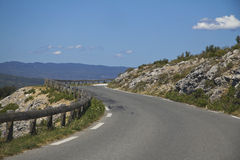 Curvy road in France, Calanques. Curvy road in France, around Calanques area Stock Image
