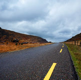 Curvy road in the Gap of Dunloe, County Kerry, Ireland Stock Photography