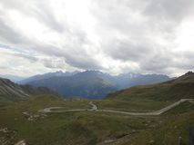 Curvy road. A curvy road in Grossglockner royalty free stock photography
