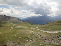 A curvy road. At Grossglockner stock image