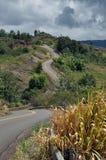 Curvy road on Kauai, Hawaii Stock Photo