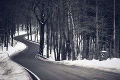 Curvy road. In National Park Saechsische Schweiz - Saxon Switzerland National Park, Germany royalty free stock photo