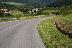 Curvy road. At Orfu, Hungary Royalty Free Stock Images