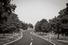 Curvy road Royalty Free Stock Image