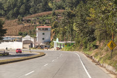 Curvy Road in Rural Guatemala Stock Photography