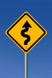 Curvy road sign Royalty Free Stock Photography