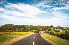 Curvy road. Curvy road on some island stock image