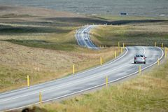 Curvy road in the Thingvellir National Park in Iceland. Curvy road in the Thingvellir National Park  in Iceland Royalty Free Stock Images