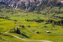 Curvy roads in mountains Royalty Free Stock Images