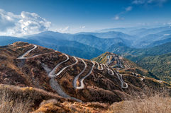 Free Curvy Roads , Silk Trading Route Between China And India Royalty Free Stock Photos - 48453378