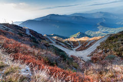 Curvy roads , Silk trading route between China and India royalty free stock photos