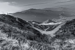 Curvy roads , Silk trading route between China and India Royalty Free Stock Image