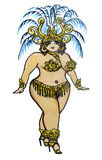 Curvy Showgirl Royalty Free Stock Image