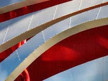 Curvy, textural abstract image from architectural details royalty free stock images