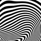 Curvy unregelmäßige dynamische Linien Abstraktes geometrisches Muster lizenzfreie abbildung