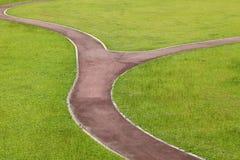 Curvy walk way. Of a city park royalty free stock photo
