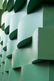 Curvy walled building exterior Stock Image