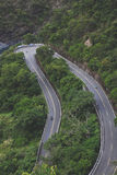 Curvy Windy Mountain Road. A long-curvy windy U-shaped road located in the mountains of Taiwan. Located south of Taiwan in the deep mountains of Duona or Maolin Royalty Free Stock Images