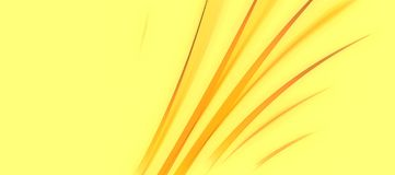 Curvy Yellow Leafy Abstract stock photography