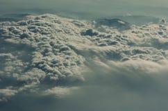 Céus dramáticos de Corfu, nublado Imagem de Stock