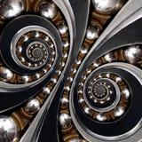 Cuscinetto a sfera industriale Doppio backgroun a spirale dell'estratto di effetto fotografia stock libera da diritti