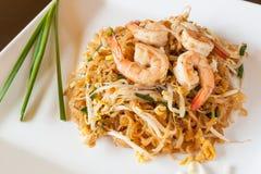 Cuscinetto tailandese dell'alimento tailandese con gamberetto Fotografia Stock Libera da Diritti