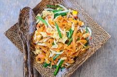 Cuscinetto tailandese, tagliatella fritta tailandese Fotografia Stock Libera da Diritti
