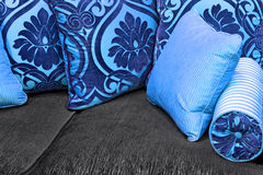 Cuscini blu Immagini Stock