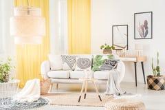 Cuscini modellati che si trovano sul sofà Fotografia Stock