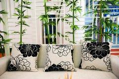 Cuscini sul sofà Fotografia Stock