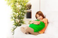 Cuscino abbracciante comodo Fotografia Stock