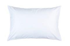 cuscino con la cassa bianca del cuscino Immagini Stock
