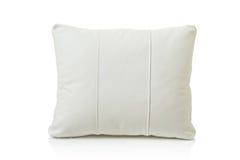 Cuscino del cuoio bianco fotografia stock libera da diritti